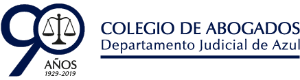 Logo Colegio de Abogados del Departamento Judicial de Azul